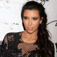 kim kardashian, fishtail plait