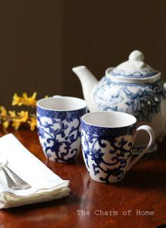 thecharmofhome: Primavera Finalmente!  Unitevi a me per il tè.  Il fascino di casa
