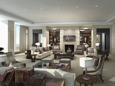 Four Seasons Hotel and Private Residences Toronto - Penthouse Living Room