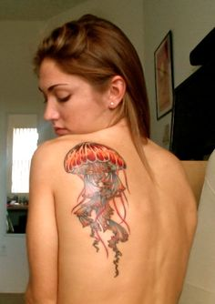 Jellyfish Tattoo. I like this, but I think I'd like it to be smaller in size.