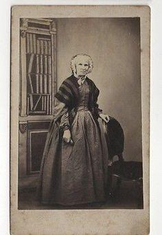 CDV Victorian Old Lady Dress Bonnet Fashion Gaisford of Plymouth 1860s | eBay
