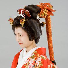 Japan, Edo Era, Bunkin Takashimada Sagegami Style of Daimyo Samurai Bride
