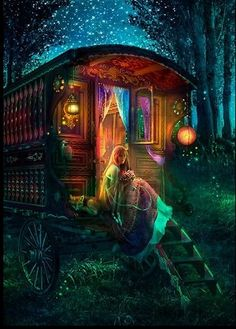 Gypsy retreat in the night