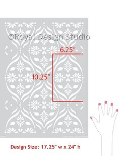 DIY Decor Floral Trellis Wall Stencils for Painting Modern Designs