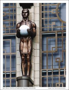 Architecture Photography - Art Deco Statue at Parkview Square