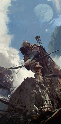 Mercenary by Alexandr Malex (Fantasy Art Watch) Erubathron Anime Art Fantasy, Fantasy Kunst, High Fantasy, Medieval Fantasy, Sci Fi Fantasy, Fantasy Artwork, Fantasy World, Character Portraits, Character Art