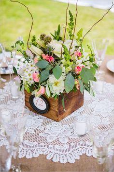 New Vintage Wedding Centerpieces Receptions Wooden Boxes Ideas Decoration Table, Table Centerpieces, Wedding Centerpieces, Wedding Decorations, Trendy Wedding, Rustic Wedding, Our Wedding, Wedding Ideas, Wedding Photos