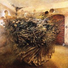 Zdzisaw Beksiski Terrifying Visions Of Hell By Murdered Polish Painter  Lazer Horse