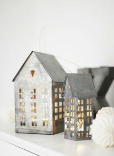 the clean prism mitt vita hus mini zinc houses tealight candle holders