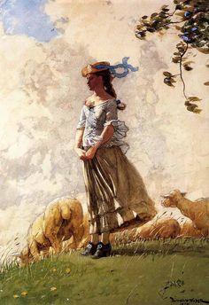 Winslow Homer Fresh Air 1878 watercolour