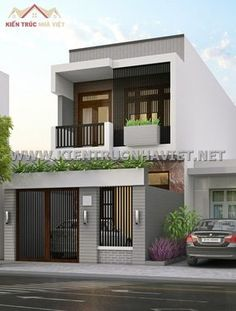 Trendy home small apartment simple 35 Ideas Small House Exteriors, Modern Exterior House Designs, Modern House Facades, Modern Bungalow House, Modern House Design, House Outer Design, House Arch Design, Small House Design, Narrow House Designs