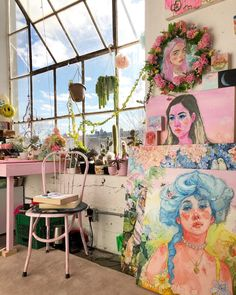 Discovered by ⌗𝓦. Find images and videos about art, aesthetic and icon on We Heart It - the app to get lost in what you love. Art Studio Room, Art Studio Design, Art Studio At Home, Art Studio Decor, Art Hoe Aesthetic, Aesthetic Rooms, Arte Sketchbook, Dream Studio, Dream Art
