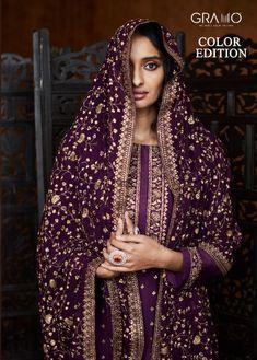 GRAMO COLOR EDITION PAKISTANI GEORGETTE SALWAR KAMEEZ Latest Pakistani Suits, Designer Salwar Suits, Suit Fabric, New Launch, Wedding Wear, Salwar Kameez, Party Wear, Product Launch, Sari