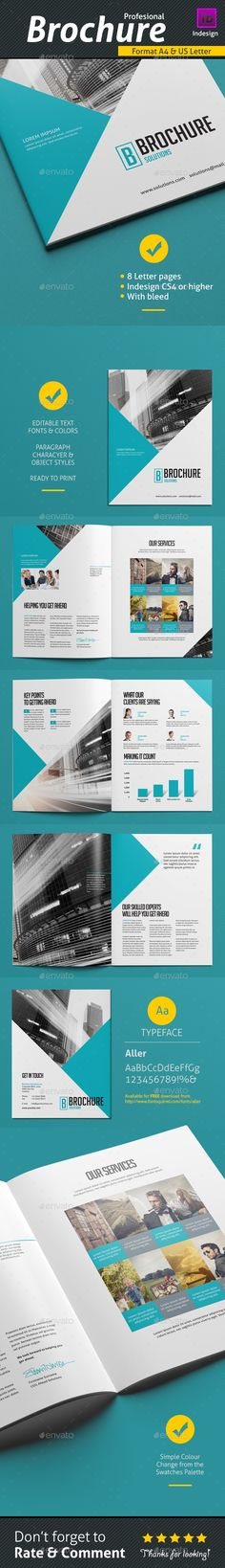 Brochure Template InDesign INDD #design Download: http://graphicriver.net/item/brochure-template-v1/13936599?ref=ksioks