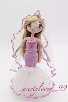 Crochet Doll Pattern - Hathaway 海瑟薇 the Ocean Mermaid