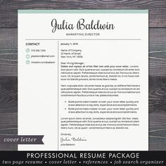 Top Resume Template For Ms Word  Minimal Resume Design  Teacher