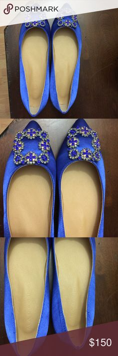 Hangisi 36 shoes Price reflects. Unbranded. Fits like a 6. New without box. Let out your inner Carrie Bradshaw! 💃🏼👠 Manolo Blahnik Shoes Flats & Loafers