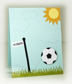 Soccer Coach Thanks by mom2n2 - Cards and Paper Crafts at Splitcoaststampers Adapt for childs birthday cards-for-kids
