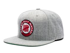 Rated Heather Grey Snapback Cap by UNDEFEATED