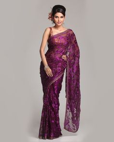 Embroidered Georgette Brasso saree  Rs.5,980