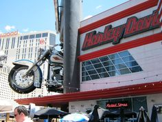 Been there! Awesome place! Harley Davidson Cafe -Las Vegas. One of the McD's in Vegas is a Harley theme too, really cool.