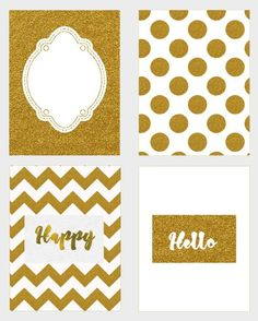 Free Printable Gold Journal Cards {set 1}