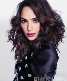 Gal Gadot poses in Giorgio Armani embellished dress