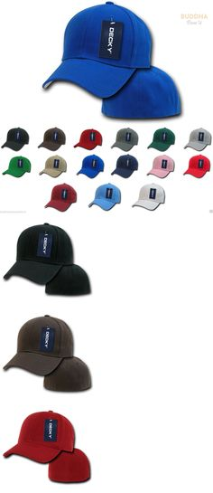 Mens Accessories 45053: 6-Pack Decky Classic Plain Fitted Curved Bill Baseball Hats Caps Wholesale Lot -> BUY IT NOW ONLY: $34.99 on eBay!