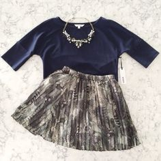 Navy Crop Top Brand new with tag. Navy blue crop top with quarter length batwing sleeves. Excellent quality material. Measurements upon request                                                                   15% OFF Bundles of 2+ items Find me on Instagram @see.seasew BB Dakota Tops Crop Tops