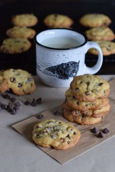 I love baking chocolate chip cookies, and this recipe is my absolute fave. These are the best chocolate chip cookies you'll ever eat. You can make them a little more cake-like (but still chewy); or you can make them a little crispy, a little chewy. Plus I share an easy tip for keeping them soft and chewy in the cookie jar. How to make chocolate chip cookies from scratch. Yum!