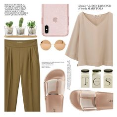 """""""Crucial Moods"""" by sweet-jolly-looks ❤ liked on Polyvore featuring MANGO, Uniqlo, Bamboo, Victoria Beckham and LSA International"""