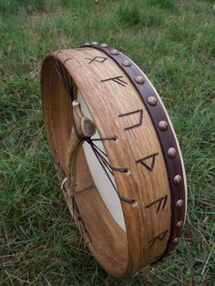 <([Currently unknown effect.])> Celtic drum handle at back frame drum holes drilled Iron Age, Frame Drum, Drums Art, Viking Reenactment, Celtic Music, Asatru, Sound Healing, Norse Mythology, Musical Instruments