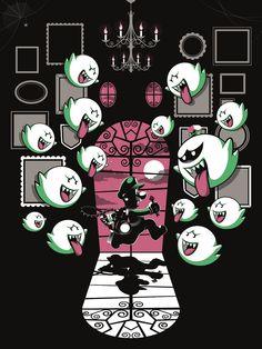 """Luigi's Mansion"" - Guillaume Morellec #Luigi #Nintendo"