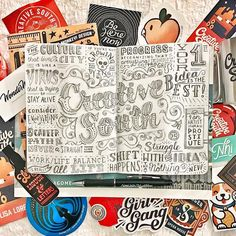 Crazy cool lettering by Lisa Lorek Creative Lettering, Cool Lettering, Lettering Design, Hand Lettering, Calligraphy Types, Lisa, Sketch Notes, Love Design, Fashion Books