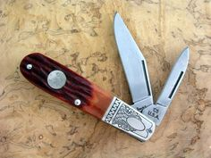 Engraved Personalized Bear & Sons Barlow Pocket Knife