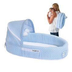 Berço móvel e portátil LulyBoo Lounge. Ideal para viagens e passeios. O berço LulyBoo garante um local seguro para o seu bebê dormir, brincar, e descansar sem estranhar o ambiente.  Combina as características de um berço, cestinha, cercadinho, e trocador em um só produto! Esse é o único berço móvel disponível no mercado completamente dobrável e transformável em mochila para um fácil transporte e estoque. http://www.lojadonenem.net/index.php?main_page=product_info&cPath=53_88&products_id=333