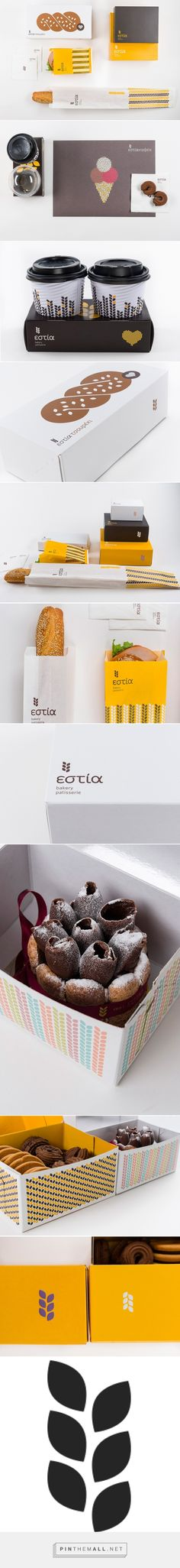 "Beetroot -+ Estia Bakery packaging curated by Packaging Diva PD. A simple wheat kernel shape was developed and utilized as a ""design kernel"" from which a variety of patterns and mosaic images where produced including the bakery's logo: a wheat stem."