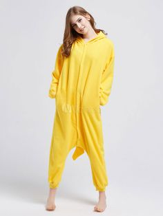 8d623daa3a5 Kigurumi Pajamas Pikachu Onesie Yellow Pokemon Fleece Flannel Pajamas For  Adult Halloween  Onesie