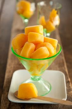 Peach Ice Cubes for Iced Tea.