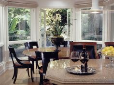 - Best of Designers' Portfolio: Dining Rooms on HGTV  Contrast of espresso and cherry wood