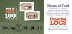 CREATIVE LOGS Amish Handmade Classic Wood Log Construction Block Set Kids Playroom Furniture, Doll Furniture, Handmade Toys, Handmade Wooden, Wooden Truck, Drying Racks, Laundry Drying, Classic Board Games, Hardwood Furniture
