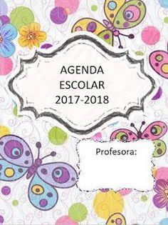 Agenda escolar versión mariposa 2017-2018 para imprimir
