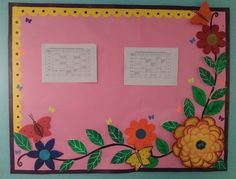Floral border for bulletin board Flower Bulletin Boards, Bulletin Board Design, Bulletin Board Borders, School Bulletin Boards, School Decorations, Festival Decorations, Floral Border, Classroom Themes, Beach Themes