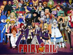 Tous les personnages de Fairy Tail.