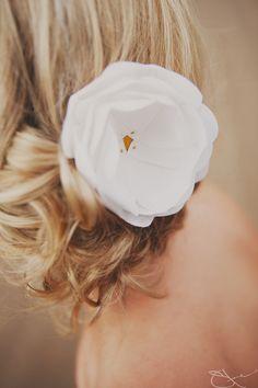 Hair + Emersonmade flower. Love