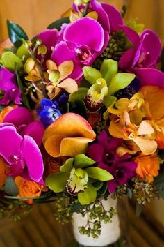 Colorful Wedding Flowers. My favorite so far...