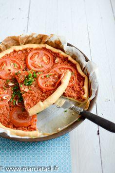 Tarte au thon tomate - Recette - Marciatack.fr : recettes faciles | Tout pour cuisiner !