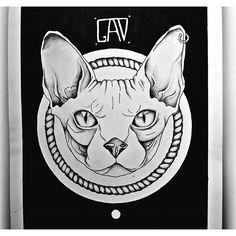 эскизы тату кот - Поиск в Google
