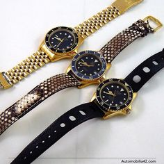 3 wolfies, Heuer/ TAG Heuer 1000 18K gold plated 984.013