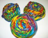 Ready to ship /Gorgeous hand dyed superwash wool top rainbow progression GRATEFUL DYED 16 oz.HandSpun 2 Ply YARN